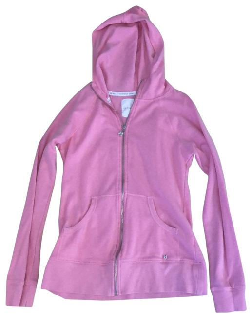 Item - Pink and White Love Full-zip Activewear Outerwear Size Petite 4 (S)
