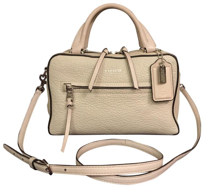 Item - Bleecker Small Toaster 30446 Beige White Leather Satchel