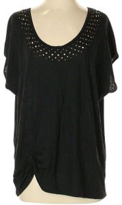 Chaus Detail Studded Top Black
