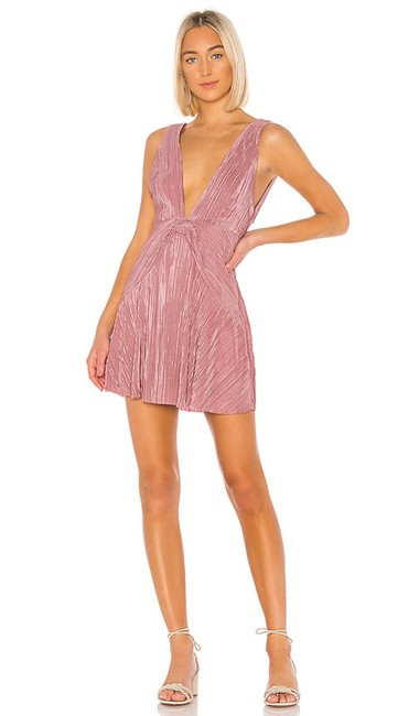 Item - Mauve Pink Twist And Short Night Out Dress Size 4 (S)
