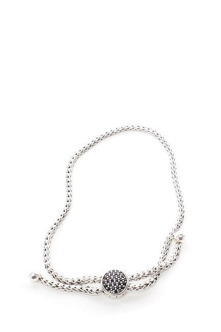 Item - Silver Black Sapphire Classic Chain Pull Through Bracelet