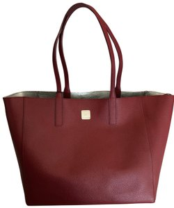 MCM Tote in Red and Silver