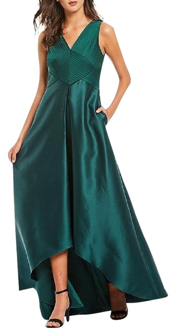 Item - Dark Forest Green High-low Mikado Gown Long Formal Dress Size 10 (M)