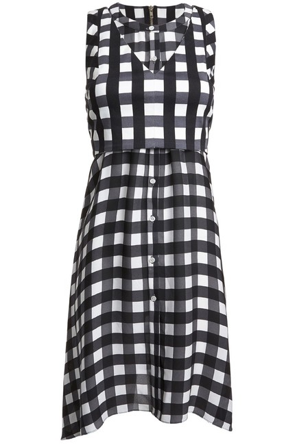 Item - Black and White Farica Checkmate Short Casual Dress Size 0 (XS)