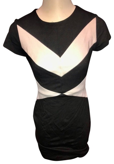 vince camuto black and white dress
