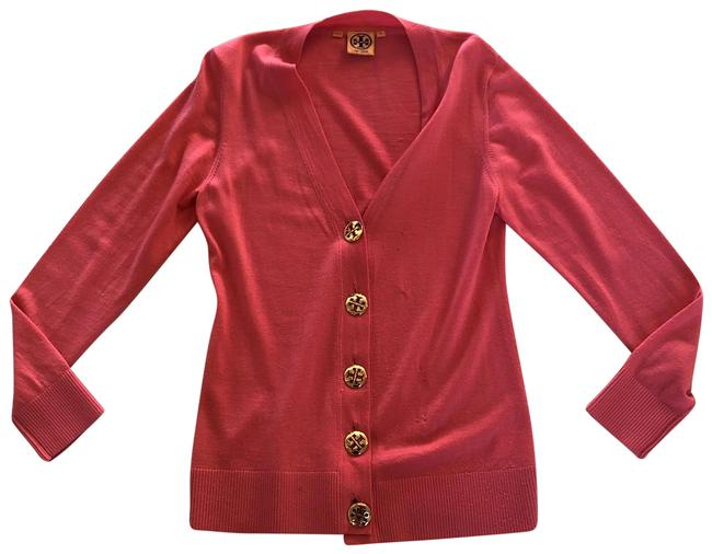 Item - Pink and Gold Longsleeve Button M Cardigan Size 8 (M)