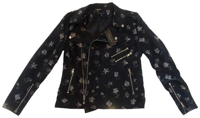 Item - Black and Multicolored Floral Corduroy Small Jacket Size 4 (S)