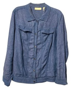 Kate Hill Button Down Shirt blue