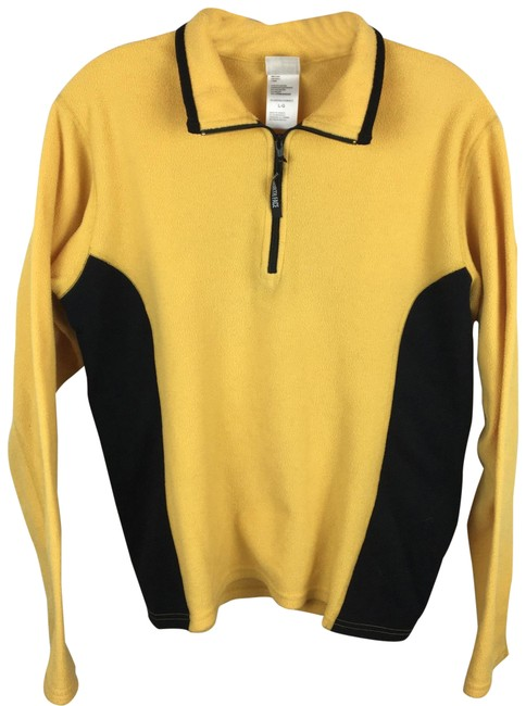 Item - Yellow & Black Two Tone Fleece Activewear Outerwear Size 12 (L)