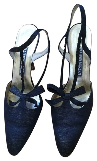 Other Sling Bow Thread Black Gold Pumps