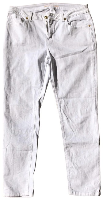 Item - White Gold Detailing Skinny Jeans Size 6 (S, 28)