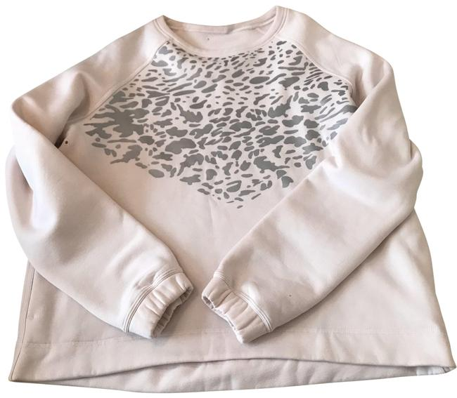 Item - Pink and Silver Cheetah Print Sweater Activewear Top Size 12 (L)