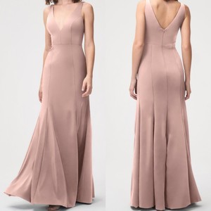 Jenny Yoo Whipped Apricot Luxe Crepe Jade Formal Bridesmaid/Mob Dress Size 10 (M)