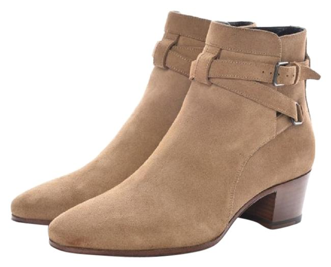 Saint Laurent Beige Suede Blake Ankle New Sigaro Boots/Booties Size US 8 Regular (M, B) Saint Laurent Beige Suede Blake Ankle New Sigaro Boots/Booties Size US 8 Regular (M, B) Image 1
