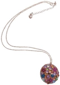 Betsey Johnson Betsey Johnson New Lucite Disc Flower Necklace