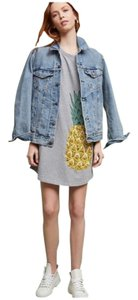 Anthropologie short dress Gray Yellow on Tradesy