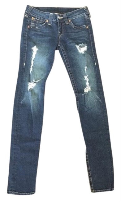 Item - Blue Distressed Stella Ripped Destroyed Skinny Jeans Size 8 (M, 29, 30)