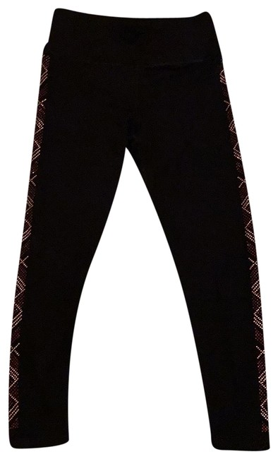 Item - Black with Gold Activewear Bottoms Size 6 (S)