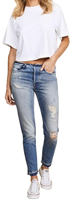 Item - Blue Distressed Rigid Re-release Horne Skinny Jeans Size 23 (00, XXS)