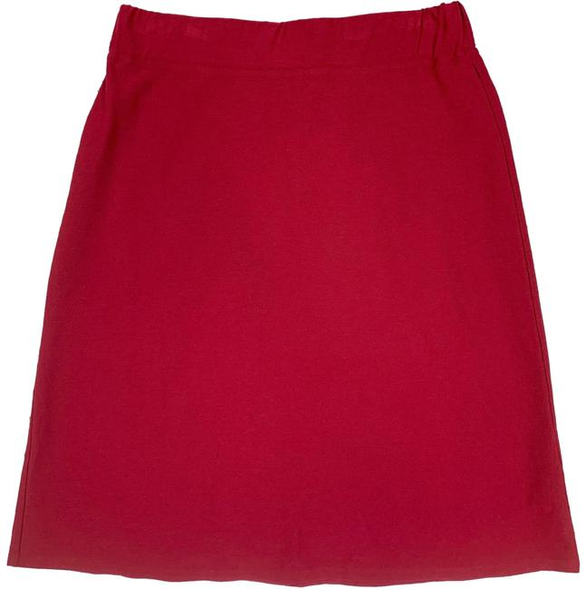 Item - Red A Line Stretch Crepe Skirt Size Petite 4 (S)