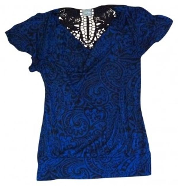 Preload https://item3.tradesy.com/images/daytrip-blue-and-black-burnout-with-lace-night-out-top-size-4-s-26827-0-0.jpg?width=400&height=650