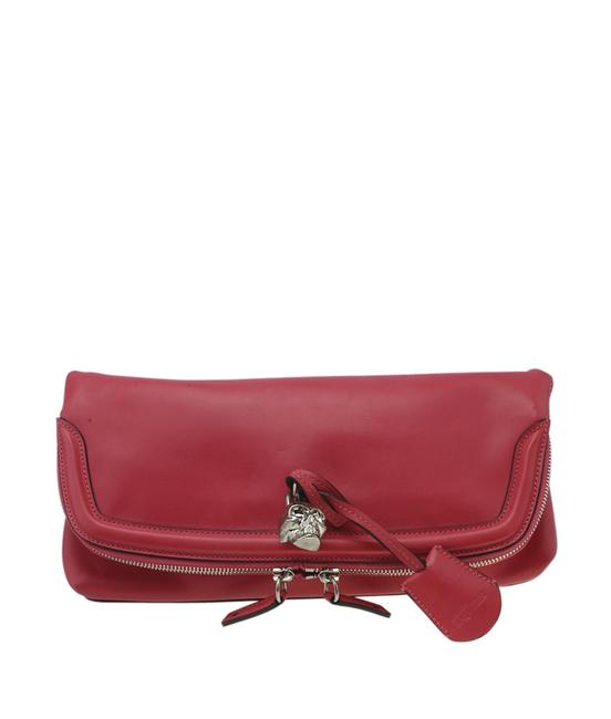 Item - Skull Padlock (182330) Red Leather Clutch