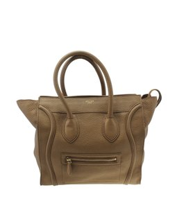 Celine Leather Tote in Brown