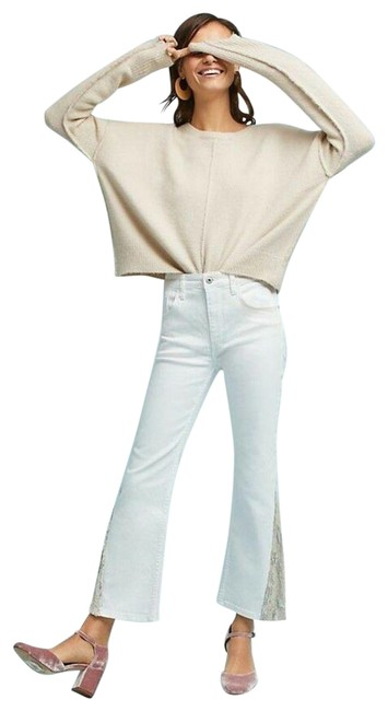 Item - White High-rise Sequins Flare Leg Jeans Size 28 (4, S)