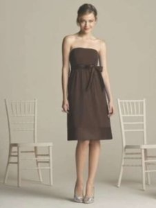 After Six Brown Nu Georgette 6580 Casual Bridesmaid/Mob Dress Size 2 (XS) - item med img