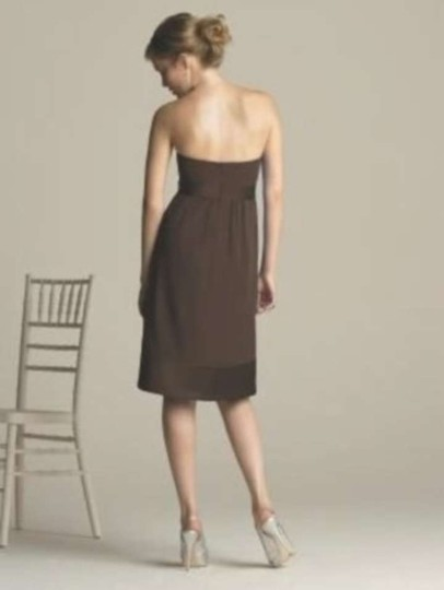 After Six Brown Nu Georgette 6580 Casual Dress Size 2 (XS)