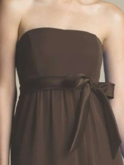 After Six Brown Nu Georgette 6580 Casual Bridesmaid/Mob Dress Size 2 (XS)