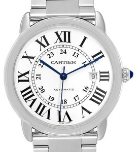 Cartier Cartier Ronde Solo XL Automatic Steel Mens Watch W6701011 Box Papers