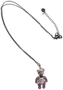 Betsey Johnson Betsey Johnson New White and Pink Bear Necklace