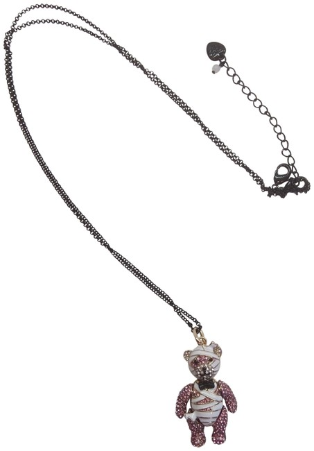 Item - White New and Pink Bear Necklace