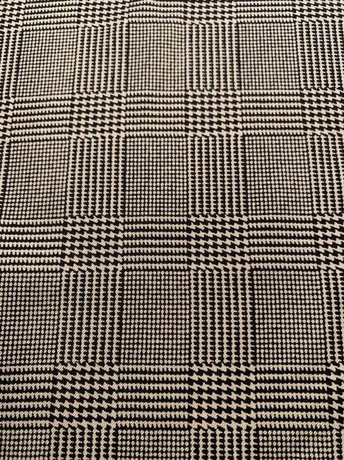Item - Houndstooth Black and Beige Polo By Scarf/Wrap