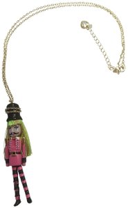 Betsey Johnson Betsey Johnson New Hot Pink Toy Soldier Necklace