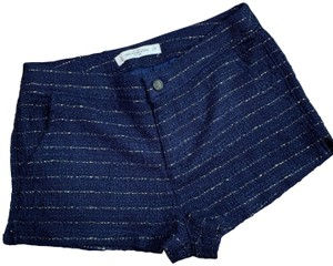 Abercrombie & Fitch Gold Dress Shorts Blue