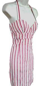 Moschino short dress Red White Summer Sweetheart Striped Fitted Jeans Nautical Marine Preppy on Tradesy