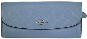 Coach Pool Blue In Signature Leather F26460 Wallet