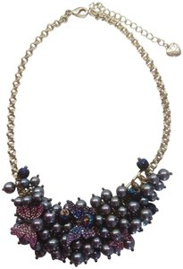 Betsey Johnson Betsey Johnson New Gray Pearl/Butterfly Necklace
