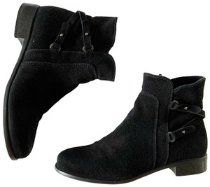 La Canadienne Ankle Suede Designer Water-repellant Black Boots