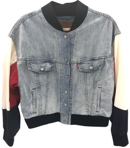 Levi's Blue, White & Red Womens Jean Jacket