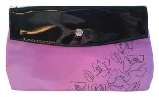Other Pink & Black Lancome Snap Close Cosmetics Makeup Bag Pouch Case