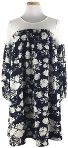 Anthropologie short dress Blue Sunday In Brooklyn Floralprint Swingdress on Tradesy