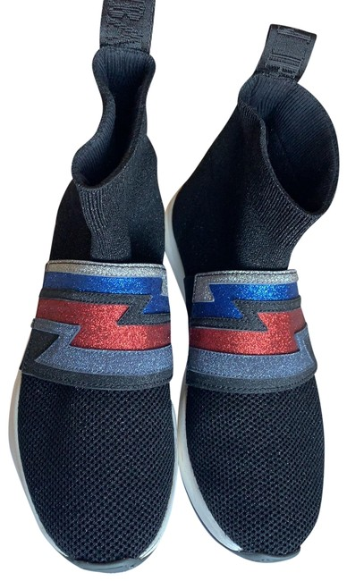 Item - Black/ Blue/ Silver/ Red Cameron Glittered Sneakers Size EU 39 (Approx. US 9) Regular (M, B)