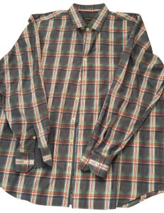 Bugatchi Button Down Shirt Dark blue with red and white and green