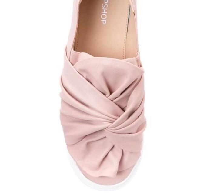 Item - Nude/Blush Twisted Slip-on Sneakers Size EU 38 (Approx. US 8) Regular (M, B)