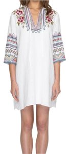 Johnny Was Beach Cover Up Pool Cover Up Embroidered Hooded Tunic