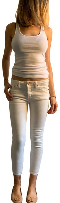 Item - White Cropped Skinny Jeans Size 0 (XS, 25)