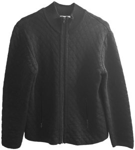 Talbots Sweater Jacket Quilted Wool Cardigan